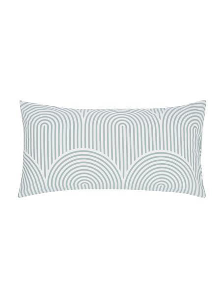 Gemusterte Baumwoll-Kissenbezüge Arcs, 2 Stück, Webart: Renforcé Fadendichte 144 , Grün,Weiß, 40 x 80 cm
