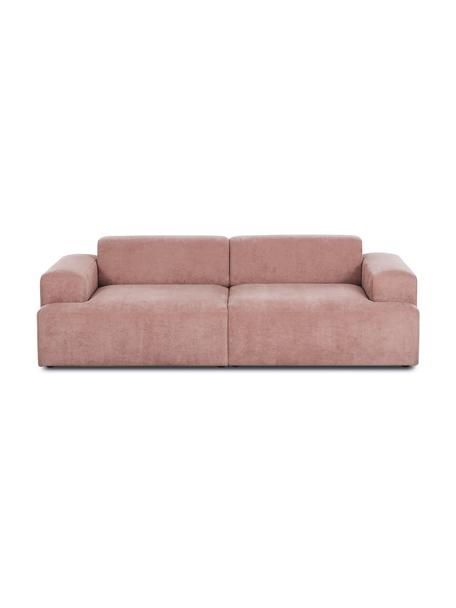 Cord-Sofa Melva (3-Sitzer) in Rosa, Bezug: Cord (92% Polyester, 8% P, Gestell: Massives Kiefernholz, Spa, Cord Rosa, B 240 x T 101 cm