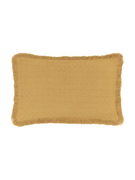 Poszewka na poduszkę z frędzlami Lorel, 100% bawełna, Żółty, S 30 x D 50 cm