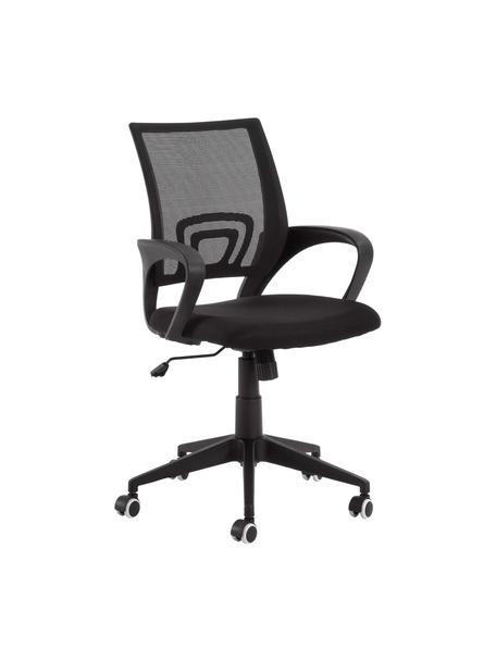 Sedia da ufficio girevole Rail, Piedini: metallo, verniciato, Ruote: plastica (poliuretano), Nero, Larg. 63 x Alt. 91 cm