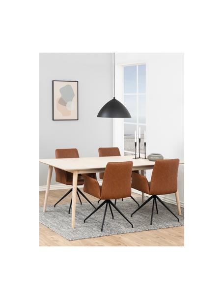 Krzesło obrotowe ze sztucznej skóry Naya, Tapicerka: sztuczna skóra, Stelaż: metal malowany proszkowo, Sztuczna skóra koniakowy, S 59 x G 59 cm