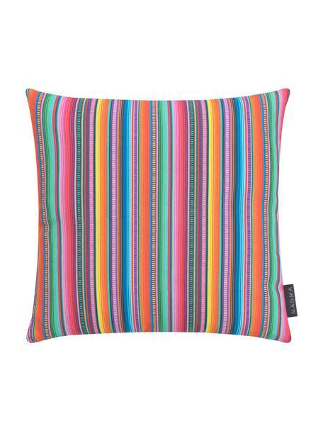 Federa arredo a strisce multicolori Mariachi, Tessuto: mezzo panama, Multicolore, Larg. 40 x Lung. 40 cm