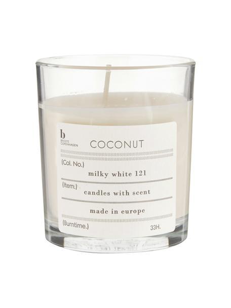 Duftkerze Bliss (Kokosnuss), Natürliches Sojawachs, Glas, Transparent, H 8 cm