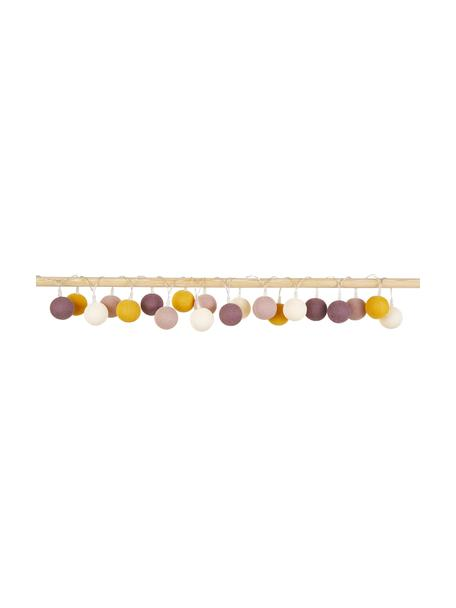 LED Lichterkette Colorain, L 378 cm, Weiß, Gelb, Puderrosa, Altrosa, L 378 cm