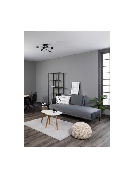 Lámpara de techo Visby, Anclaje: metal con pintura en polv, Estructura: metal con pintura en polv, Negro mate, Ø 55 x Al 20 cm