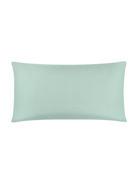 Funda de almohada de satén Comfort, 45x85cm, Verde salvia, An 45 x L 85 cm