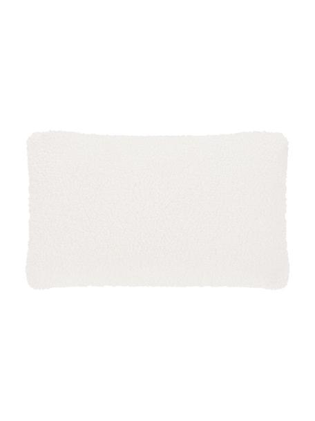 Zachte teddy kussenhoes Mille in crèmekleur, Crèmekleurig, 30 x 50 cm