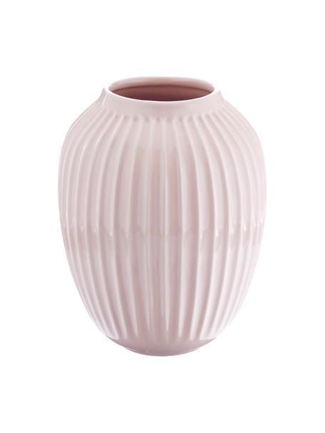 Ręcznie wykonany wazon Hammershøi, Porcelana, Blady różowy, Ø 20 x W 25 cm