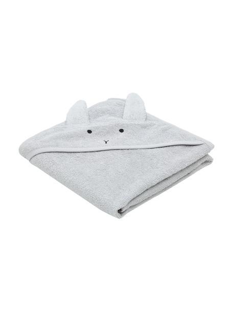 Asciugamano per bambini Albert Rabbit, 100% cotone biologico (Terry), Grigio, Larg. 70 x Lung. 70 cm