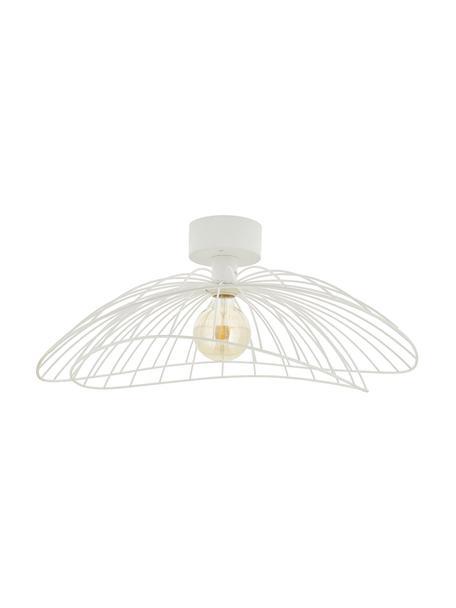 Grote plafond- en wandlamp Ray, Lampenkap: metaal, Wit, Ø 60 x H 20 cm