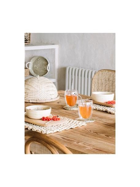 Set de pajitas de acero inoxidable Hosera, 6pzas., Bolsa: algodón, Acero, beige, L 21 cm