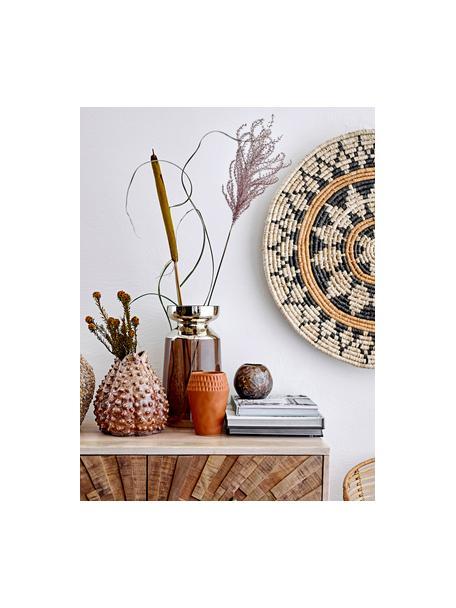 Duży wazon ze szkła Shimmer, Szkło, Brązowy, odcienie złotego, Ø 16 x W 30 cm