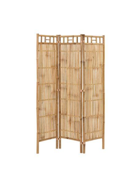 Parawan z rattanu Screen, Trzcina, rattan, drewno bambusowe, Beżowy, S 119 x W 193 cm