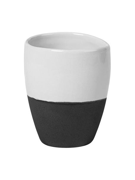 Tazzina caffè opaca/lucida fatta a mano Esrum 4 pz, Sotto: gres naturale, Color avorio, grigio-marrone, 100 ml