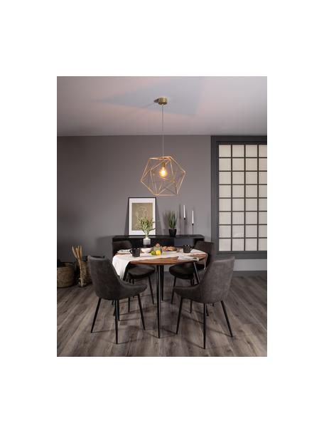 Lámpara de techo de diseño Cape Town, Pantalla: acero inoxidable, latón, Cable: plástico, Anclaje: metal, Latón, Ø 51 x Al 45 cm