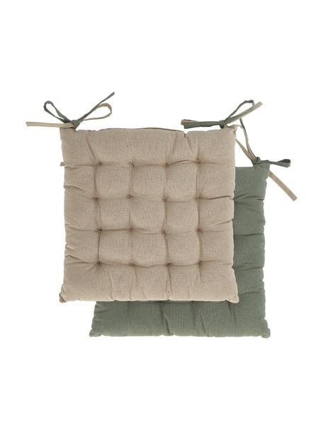 Cojín de asiento Duo, caras distintas, Caqui, beige claro, An 40 x L 40 cm