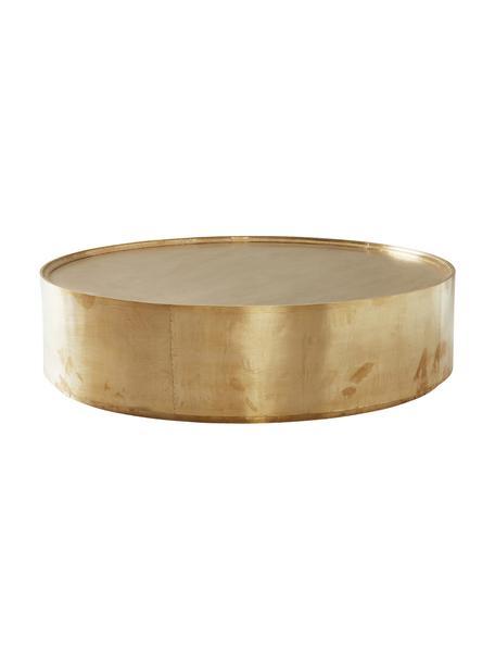 Runder Couchtisch Malibu in Messing, Oberfläche: Messing, auf Tischplatte , Rahmen: Holz, Mitteldichte Holzfa, Messing, Ø 110 x H 30 cm