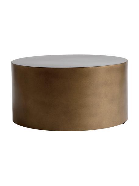 Tavolino rotondo da salotto in metallo Metdrum, Metallo, Color miele, Ø 60 x Alt. 30 cm