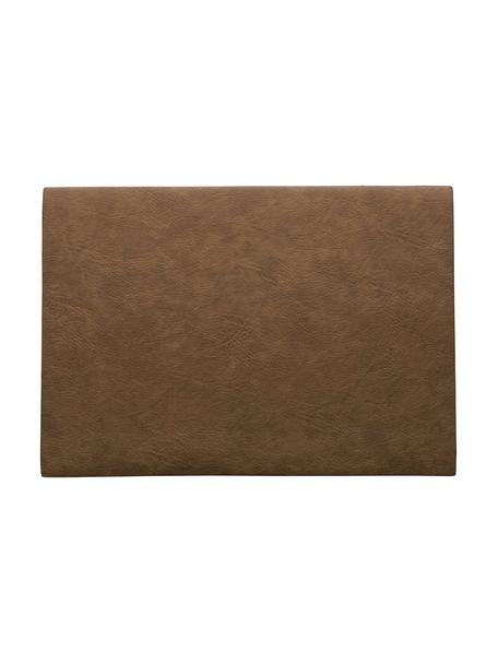 Tovaglietta americana in similpelle Plini 2 pz, Pelle vegana, poliuretano, Marrone, Larg. 33 x Lung. 46 cm