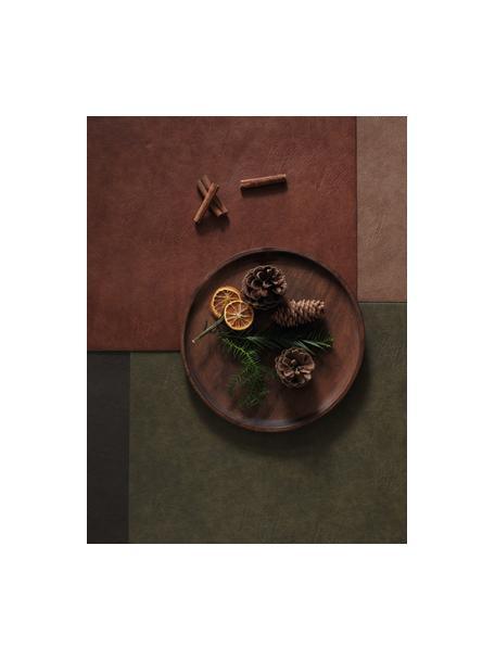 Kunstleren placemats Plini, 2 stuks, Kunstleer (polyurethaan), Bruin, 33 x 46 cm
