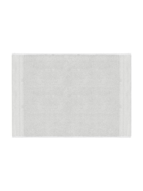 Badmat Premium, antislip, 100% katoen, zware kwaliteit, 600 g/m², Lichtgrijs, 50 x 70 cm