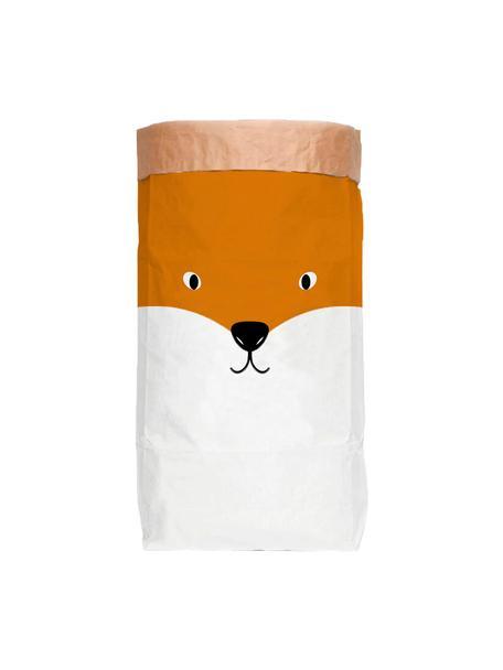 Torba do przechowywania Fox, Papier recyklingowy, Biały, pomarańczowy, czarny, S 60 x W 90 cm