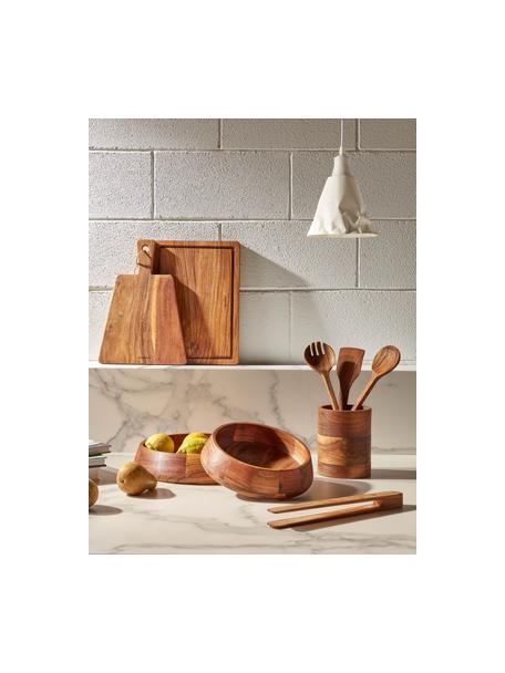 Salatbesteck Yanila aus Akazienholz, 2er-Set, Akazienholz, geölt, Akazienholz, L 30 cm