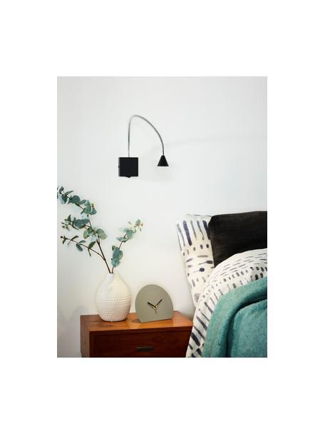 Verstellbare LED-Wandleuchte Buddy, Lampenschirm: Metall, beschichtet, Schwarz, 50 x 60 cm