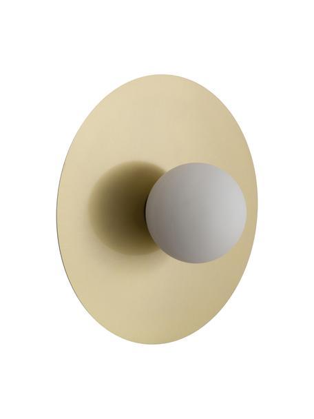 Wand- und Deckenleuchte Starling in Gold, Lampenschirm: Opalglas, Baldachin: Messingfarben, mattLampenschirm: Weiß, Ø 33 cm