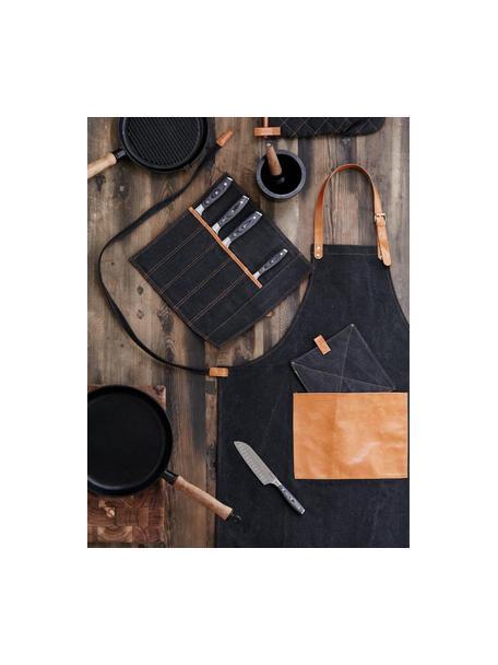 Delantal Asado, Negro, marrón, An 70 x L 90 cm