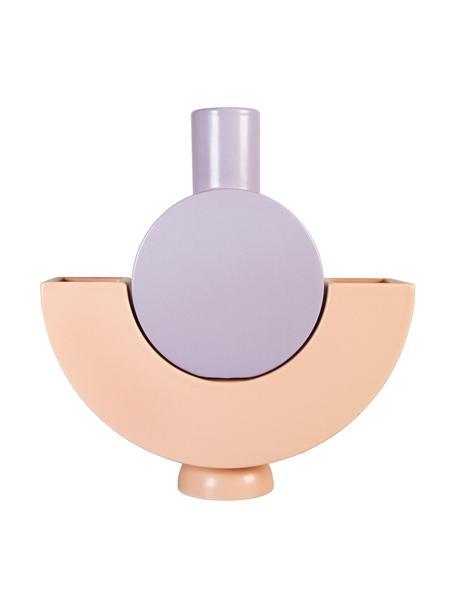 Komplet wazonów Curve, 2 elem., Porcelana, Blady różowy, lila, S 24 cm x W 17 cm