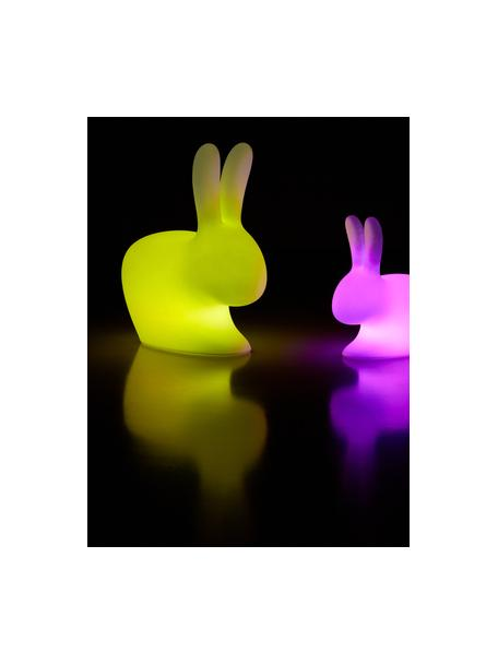 Dimbare mobiele vloerlamp Rabbit, Lamp: kunststof, Wit, 45 x 53 cm