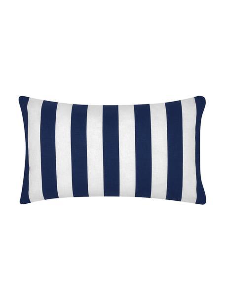 Funda de cojín a rayas Timon Timon, 100%algodón, Azul oscuro, blanco, An 30 x L 50 cm
