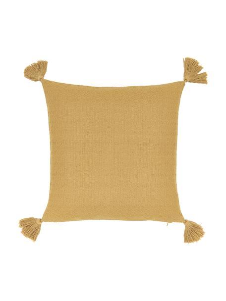 Funda de cojín Lori, 100%algodón, Amarillo, An 40 x L 40 cm