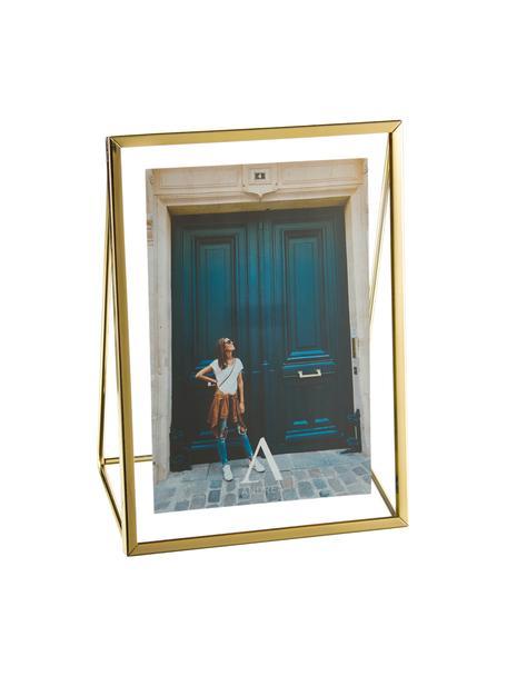 Portafoto da tavolo dorata Memi, Cornice: metallo rivestito, Dorato, 13 x 18 cm