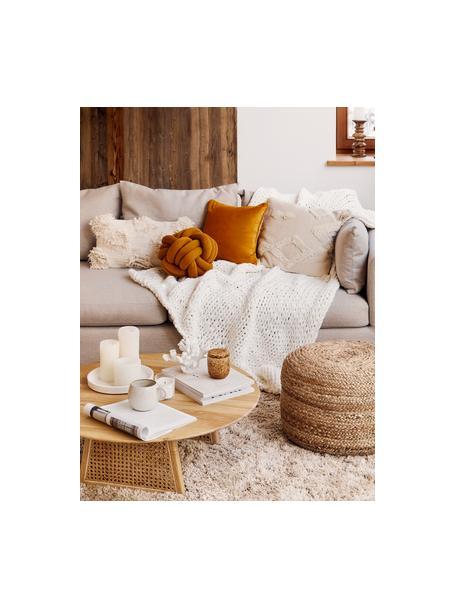 Poszewka na poduszkę Vana, Bawełna, Ecru, S 30 x D 50 cm