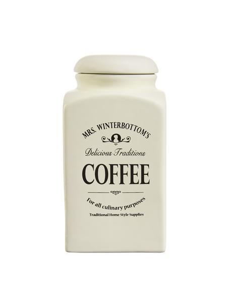 Bote Mrs Winterbottoms Coffee, Gres, Crema, negro, An 11 x Al 21 cm