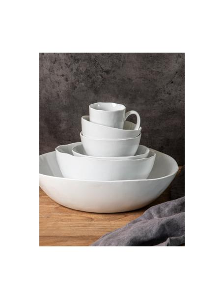 Kaffeetassen Porcelino mit unebener Oberfläche, 6 Stück, Porzellan, gewollt ungleichmäßig, Weiß, Ø 8 x H 11 cm