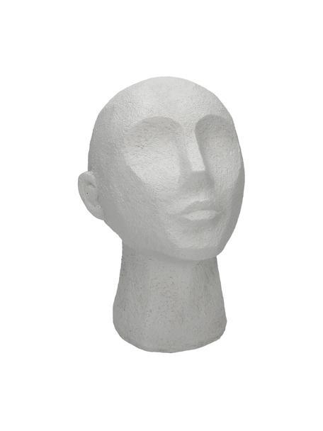 Decoratief object Head, Polyresin, Wit, 19 x 23 cm
