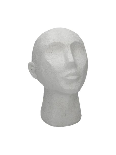 Oggetto decorativo Head, Poliresina, Bianco, Larg. 19 x Alt. 23 cm