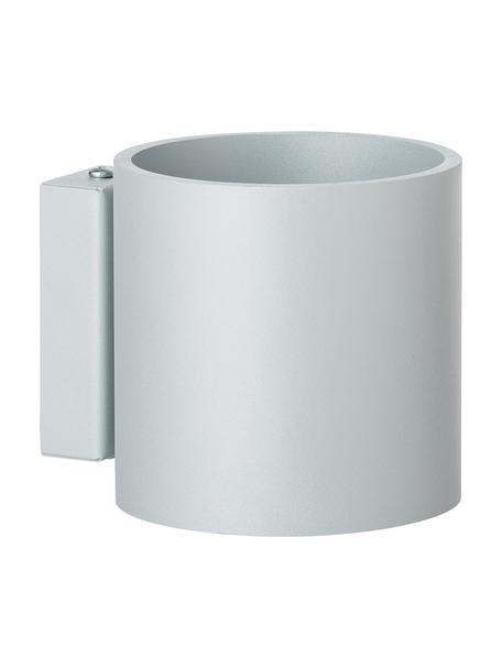 Wandlamp Roda in grijs, Lampenkap: gepoedercoat aluminium, Grijs, 10 x 10 cm