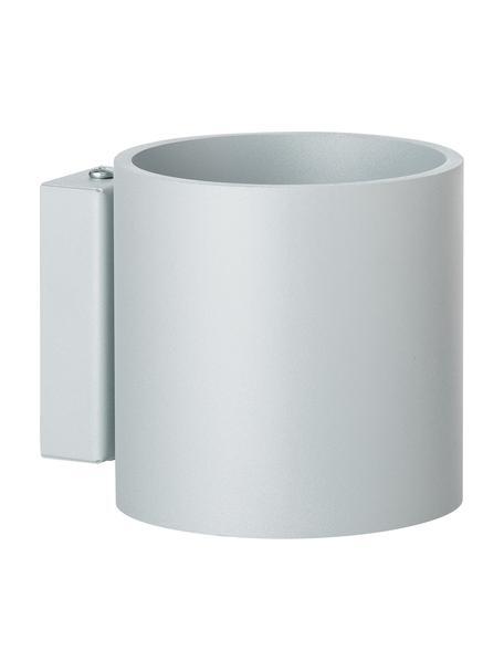 Wandlamp Roda, Aluminium, poedergecoat, Grijs, 10 x 10 cm