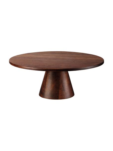 Alzatina in legno Wood, Legno di acacia, Marrone scuro, Ø 21 x Alt. 8 cm