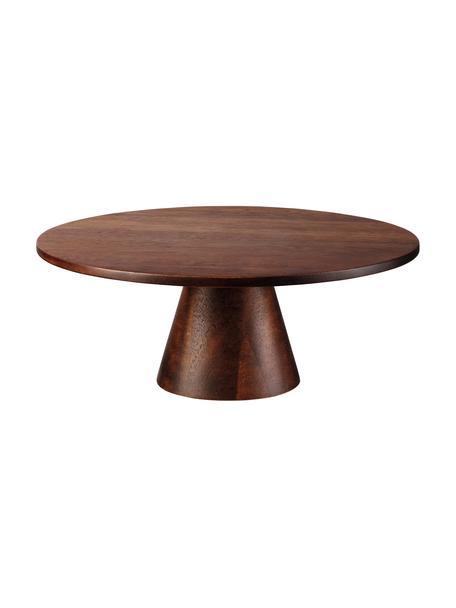 Tortownica z drewna akacjowego Wood, Drewno akacjowe, Ciemnobrązowy, Ø 21 x W 8 cm