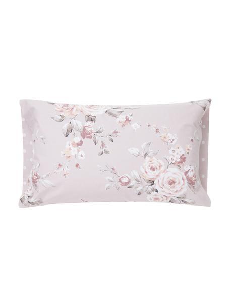 Funda de almohada Canterbury, 50x110cm, 100%algodón El algodón da una sensación agradable y suave en la piel, absorbe bien la humedad y es adecuado para personas alérgicas, Tonos rosas, gris, blanco, An 50 x L 110 cm