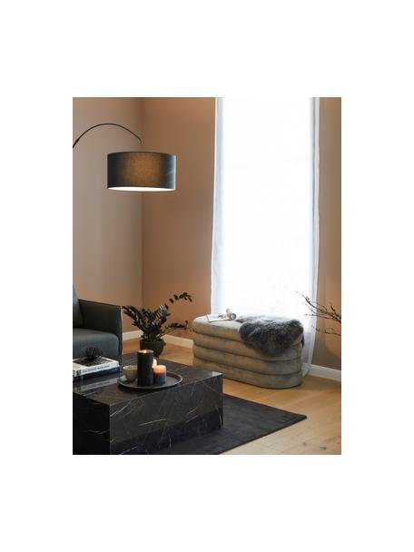 Banco de terciopelo Alto, Tapizado: terciopelo (poliéster) Re, Estructura: madera de pino maciza, ma, Terciopelo gris, An 110 x Al 47 cm