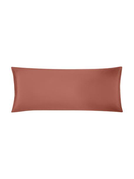 Funda de almohada de lino Nature, 45x110cm, Lino mixto (52%lino, 48%algodón) Densidad de hilo 108TC, calidad estándar Las prendas de lino mixto absorben hasta 35%de humedad intercambiandola con el ambiente, se seca muy rápido y tiene un agradable efecto refrescante para las noches de verano. Además su alta resistencia a la abrasión hace que el lino sea muy duradero., Terracota, An 45 x L 110 cm