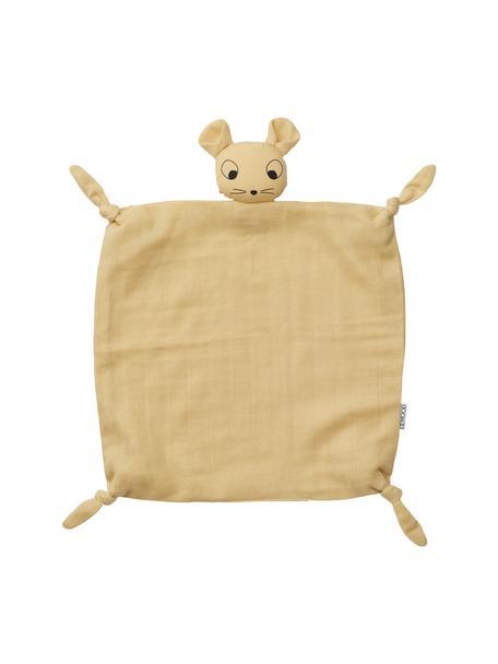 Przytulanka kocyk Agnete, Tapicerka: 100% bawełna organiczna, , Żółty, S 35 x D 35 cm
