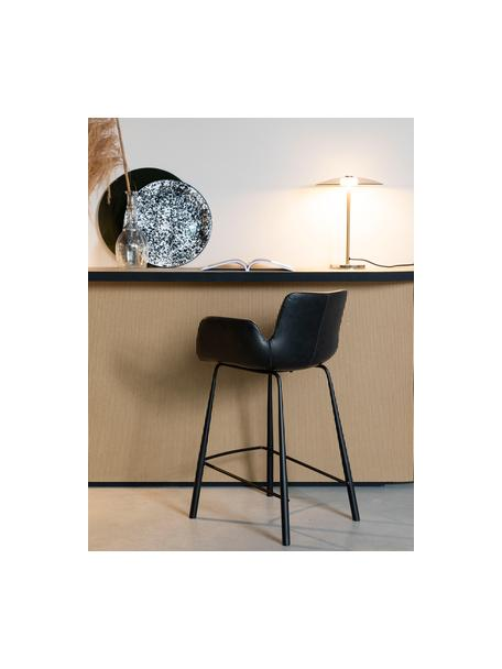 Dimbare LED tafellamp Float van glas, Lampenkap: glas, Lampvoet: glas, Goudkleurig, transparant, Ø 30 x H 42 cm