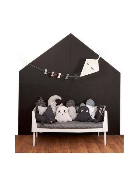 Wandlamp Kite met stekker, Decoratie: katoen, Frame: gepoedercoat metaal, Wit, multicolour, 40 x 52 cm